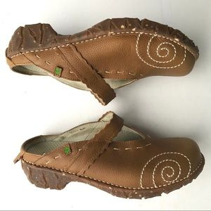 El Naturalista Shoe Clog Mule Leather NWOT S9 EU40
